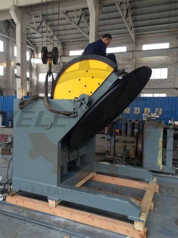 Heavy Duty Tiltable & Rotary Welding Positioner SKF Bearing 2M Table VFD Control